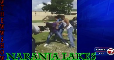 A Father Helps his Daughter Fight After School in Miami Dade County