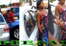 Pretty Women gets Smashed Between 2 Cars by a Queen With J's on