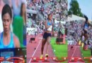 "Track Star ""Natural"" Fall Off During Competition"