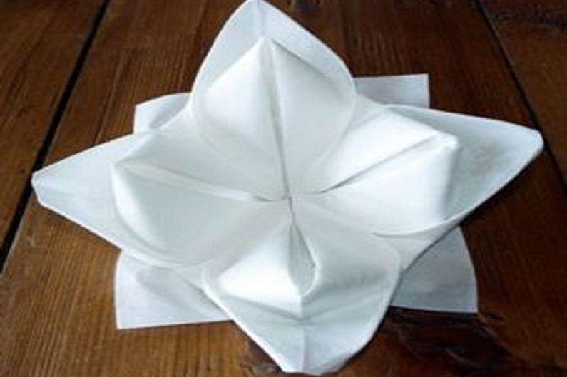 Напкиндерден гүлдер өзіңіз жасайды - Lotus