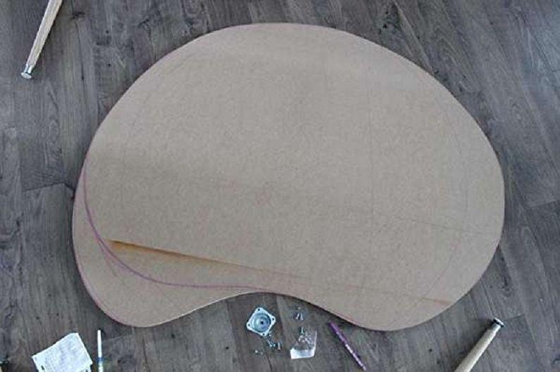 میز قهوه از تخته سه لا در سبک مدرن با دستان خود