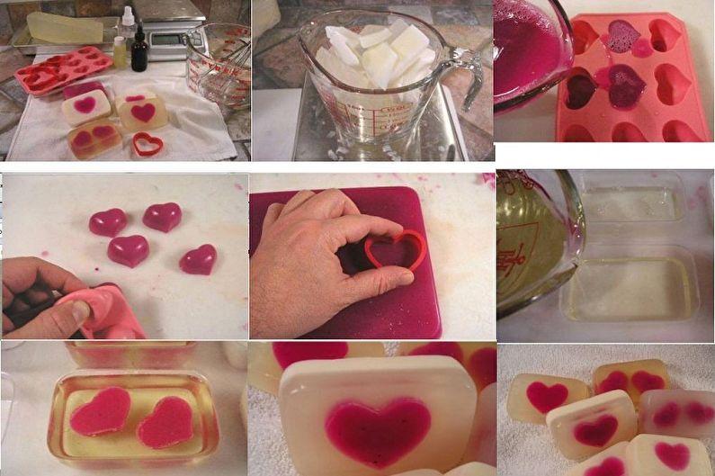 """Hoe zeep thuis te koken - bereid de """"romantische"""" zeep voor"""