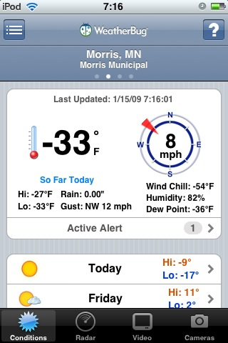 Yup, a little brisk this morning