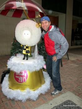 Hong Kong had a snowflake theme for New Year's 2010-2011