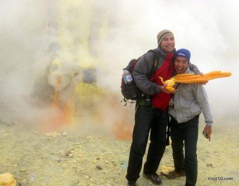 Sulfur mining at Kawah Ijen volcano   Java, Indonesia