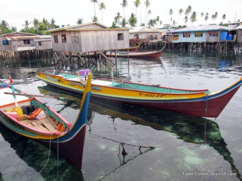 Boats on Mabul Island - Malaysian Borneo