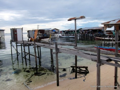 Longhouse on the Island of Mabul - homes are built on top of extended docks.