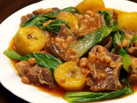 Puchero, which translates to stew pot, is a dish with beef in bananas and tomato sauce - Philippine cuisines at Visit50.com