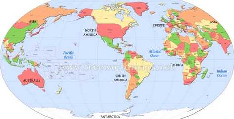 world map - visit 50 travel goal