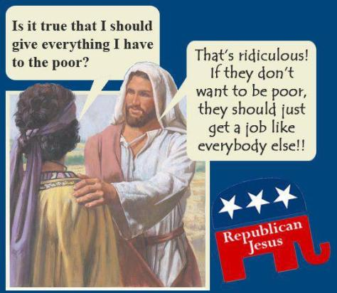 cartoon - Republican Jesus