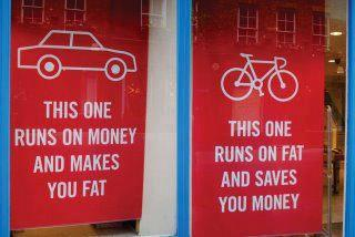 cartoon - bikes - this one makes you fat