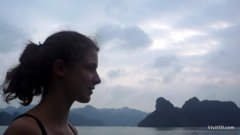 Annika profile - nearly every moment of the Halong Bay Vietnam trip included a backdrop this striking