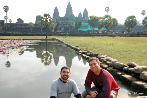 Ankor Wat and the reflecting pond