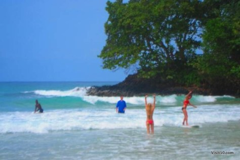 surfing at Red Frog Beach Bocas del Toro