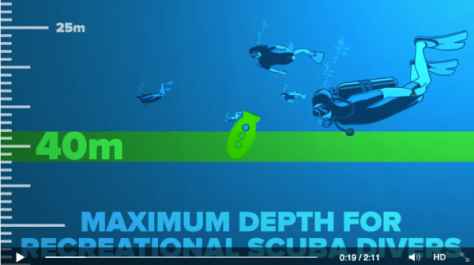 40m is the maximum depth for recreational SCUBA Divers