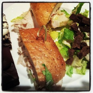 Sandwich and Salad at BlogHer 2012