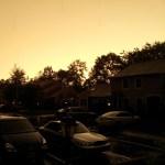Eerie Orange Sky
