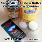 Five Ingredient Gluten-Free Cashew Butter Chocolate Cookies