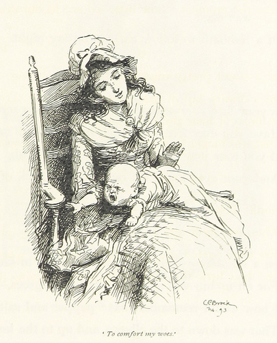 Old Sketch of Mother Spanking Her Baby