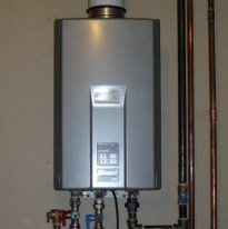 a tankless water heater