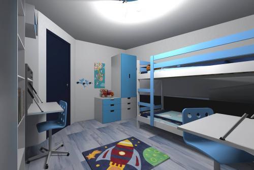 Une chambre pour deux garçons à Lognes