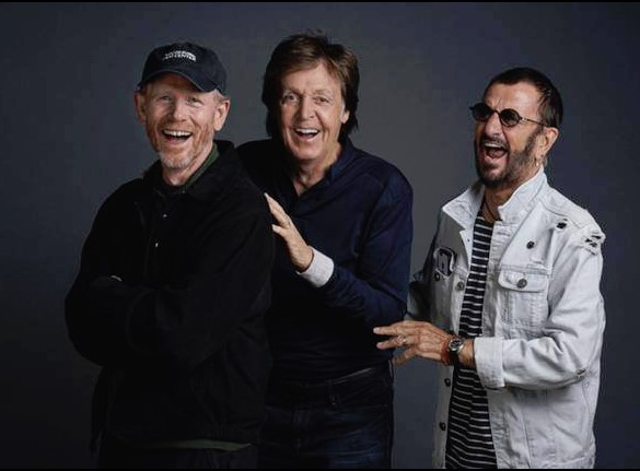 GOOD TIMES--Ron, Paul and Ringo at Abbey Road Studios in September. For more images like this, follow Ron on Twitter @RealRonHoward.