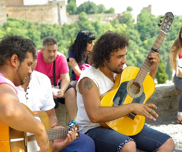 Straßenmusiker Spanien
