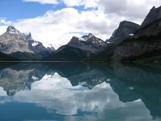 Ein Bergsee in Kanada