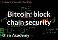 Bitcoin The security of transaction block chains