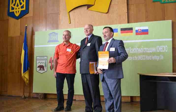 Uholka Sirokyy Luh Wilderness awarding ceremony