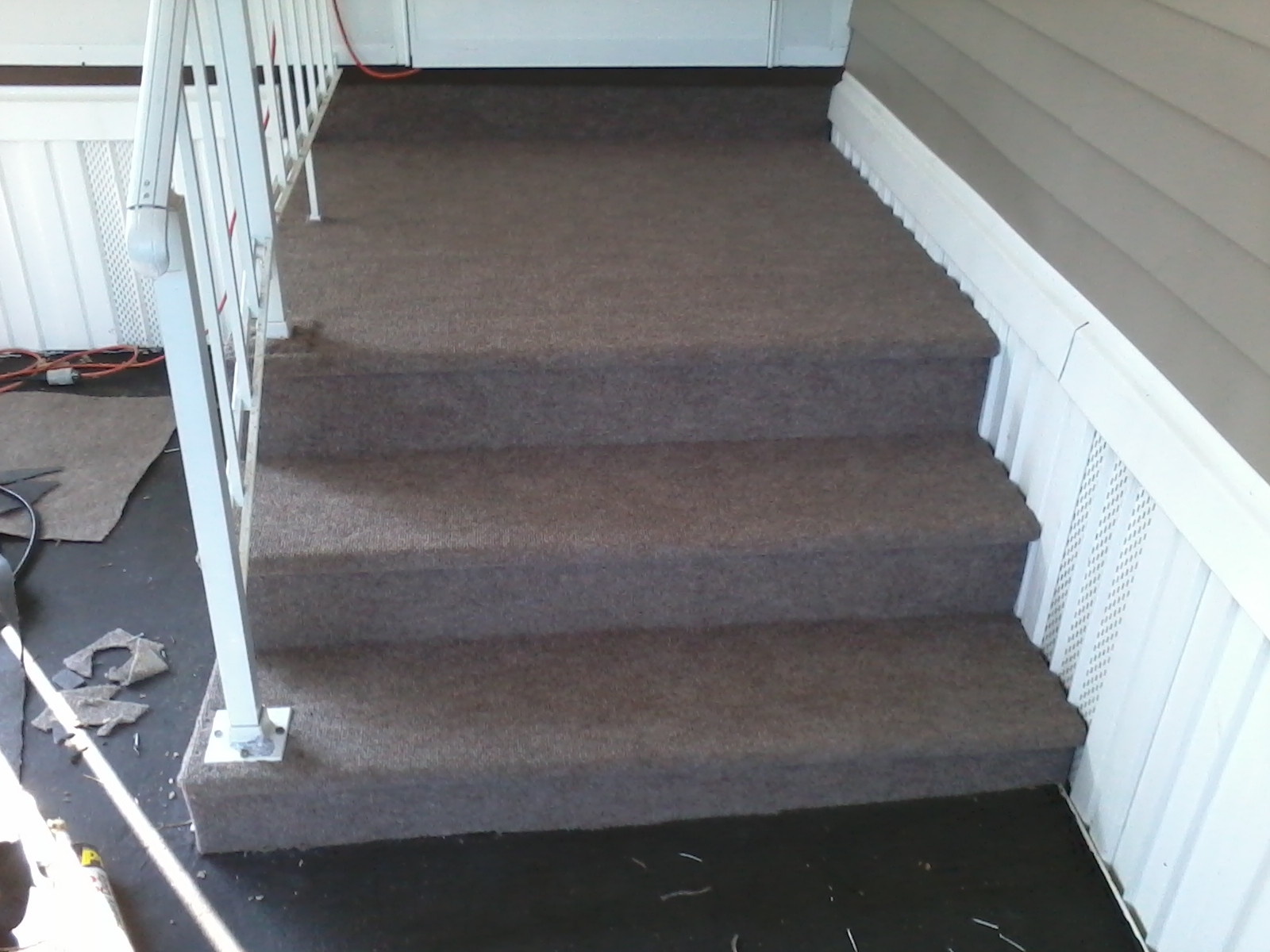 A 1 Interior Systems Deck Resurfacing Refinishing | Outdoor Carpet For Steps | Front Entrance | Marine | Navy Pattern | Rubber | Diy