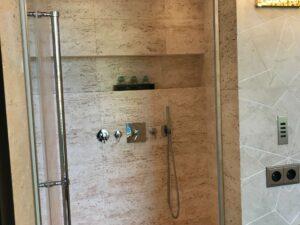 tile walkin shower