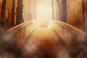 希望を象徴するような光と橋