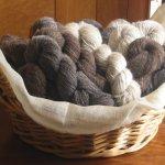 【羊毛 手つむぎの糸 】ジャコブ手編みカーボベスト