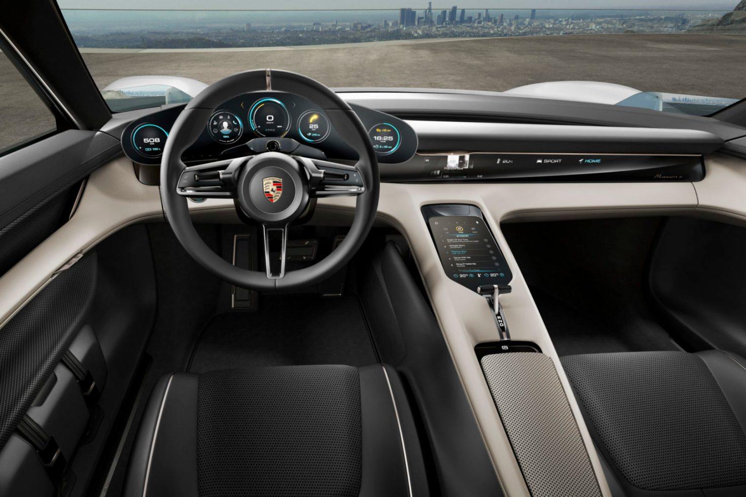 Porsche Mission E Interior Design