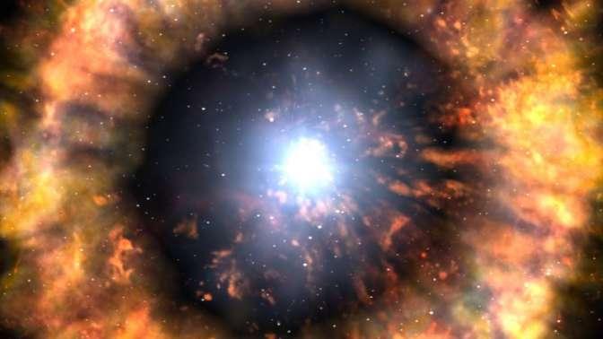 Ученые увидели сверхновую звезду впервые мгновения еежизни