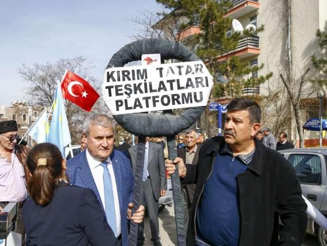 Встолице Турции прошла акция против присоединения Крыма кРоссии