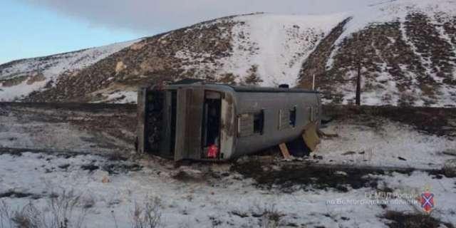 Автобус с паломниками перевернулся в Волгоградской области