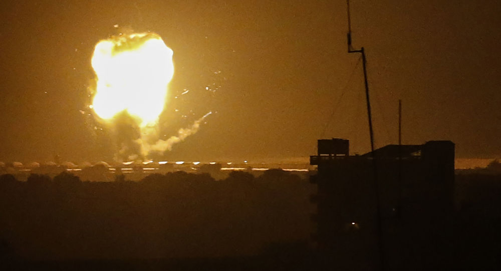 Израиль обнародовал видео удара ИДФ по сектору Газа в ответ на предыдущий ракетный обстрел