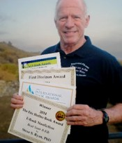 Steve with four award certificates 250 x 300 pix at 96 res cropped lighter