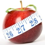 Apple and tape measure - weight loss 200 pix by 96 res