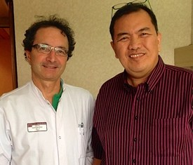 Dr. Michele Haissagguerre with Dr. Carlo Romero
