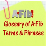 A-Fib.com Glossary of Terms on notepad
