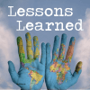 Lessons Learned graphic with hands 400 pix sq at 300 res