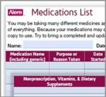 Medication Inventory form