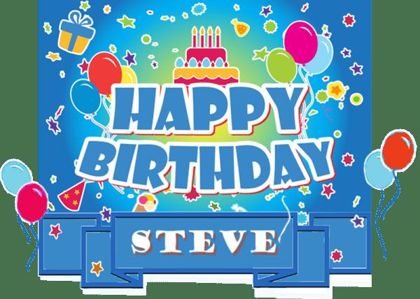 Happy Birthday Steve Cake