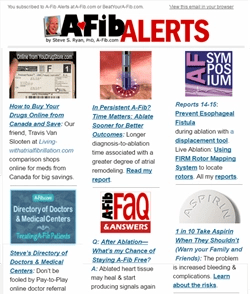 Click image to see a recent issue at A-Fib.com