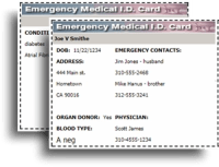 Free printable Med. ID Card at A-Fib.com