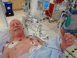 Steve Ryan, A-Fib.com: In the cath lab before my catheter abaltion Aug 1, 2019