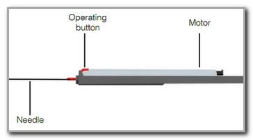 Diagram: Side view Javelin Medical VINE filter